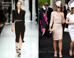 Elizabeth Hurley In Versace - Royal Ascot Day 3
