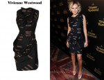 In Malin Akerman's Closet - Vivienne Westwood Fond Draped Printed Cotton Dress