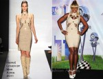Mary J Blige In Hervé Léger by Max Azria - 2011 BET Award Press Room