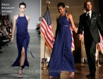 Michelle Obama In Reed Krakoff - Pritzker Architecture Prize Ceremony