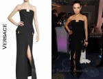 In Mila Kunis Closet - Versace Long Black Gown