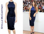 In Penelope Cruz' Closet - Stella McCartney Velvet On Bistretch Cotton Dress