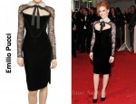 In Jessica Chastain Closet - Emilio Pucci Velvet & Lace Dress