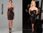 In Reese Witherspoon's Closet - Marchesa Sweetheart Dress