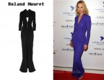 In Uma Thurman's Closet - Roland Mouret Compeyson Draped Jersey-Crepe Gown