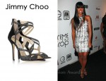 In Kelly Rowland's Closet - Jimmy Choo Dome Diamanté-Embellished Suede Sandals