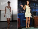 "Selena Gomez In J. Mendel - ""Late Night with Jimmy Fallon"""