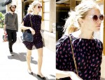 Sidewalk Style: Sienna Miller's Tucker Dress