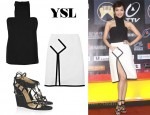 In Patty Hou's Closet - YSL Halter Top, Skirt & Sandals