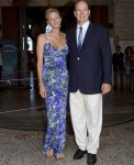 Princess Charlene of Monaco in Roberto Cavalli - 'History Of The Princely Wedding' Exhibition