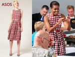 In Michelle Obama's Closet - ASOS Midi Check Print Dress