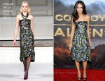 "Abigail Spencer In Oscar de la Renta - ""Cowboys & Aliens"" World Premiere"