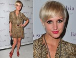 Ashlee Simpson In Mara Hoffman - Lia Sophia Industrielle II Collection Launch