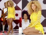 Beyonce Knowles In Julien Macdonald - Good Morning America