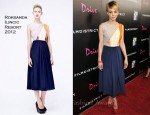 Carey Mulligan In Roksanda Ilincic - Film District Photo Op Panel Press Line