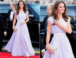 Catherine, Duchess of Cambridge In Alexander McQueen - BAFTA Brits To Watch Event