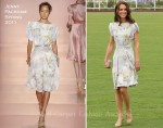 Catherine, Duchess of Cambridge In Jenny Packham - The Foundation Polo Challenge