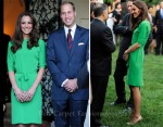Catherine, Duchess of Cambridge In Diane von Furstenberg - British Consul-General Private Reception