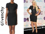 In Christina Aguilera's Closet - Givenchy Eyelet Zip Front Dress