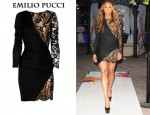 In Ciara's Closet - Emilio Pucci Lace and Jersey Dress