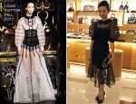 Dong Jie In Louis Vuitton - Louis Vuitton Store Opening