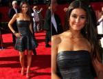 Emmanuelle Chriqui In Hervé Léger by Max Azria - 2011 ESPY Awards