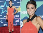 "Emmanuelle Chriqui In Julien Macdonald - ""Entourage"" Season 8 Premiere"