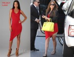 In Khloe Kardashian's Closet - Helmut Lang Drone Asymmetrical Dress