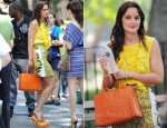 On The Set Of Gossip Girl With Leighton Meester Wearing Stella McCartney