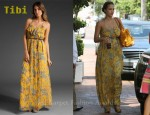 In Jessica Alba's Closet - Tibi Paisley Maxi Dress