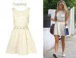In Florence Brudenell-Bruce's Closet - Topshop Cream Floral Crochet Insert Dress