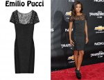 In Gabrielle Union's Closet - Emilio Pucci Lace Jacquard Dress