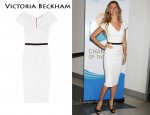In Gisele Bundchen's Closet - Victoria Beckham White Fitted Dress