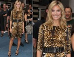 Heidi Klum In Yves Saint Laurent - 'Good Morning America'