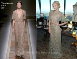 Jamie King In Valentino - Saint Vintage Designs Launch
