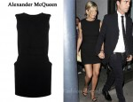 In Jennifer Aniston's Closet - Alexander McQueen Belted Cape Dress