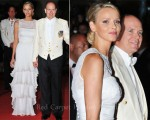 Princess Charlene of Monaco In Armani Privé - Wedding Gala Dinner