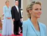 Princess Charlene of Monaco In Karl Lagerfeld - Monaco Royal Wedding: The Civil Wedding Service