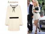 In Rachel McAdams' Closet - Azzaro Karine Pleated Wool-Jersey Dress