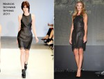 "Rosie Huntington-Whiteley In Marios Schwab - ""Transformers: Dark of the Moon"" Osaka Press Conference"