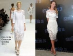 "Rosie Huntington-Whiteley In Dolce & Gabbana - ""Transformers: Dark of the Moon"" Shanghai Press Conference"