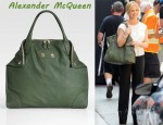 In Sarah Michelle Gellar's Closet - Alexander McQueen De Manta Leather Tote