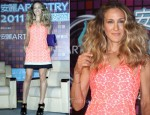 "Sarah Jessica Parker In Diane von Furstenberg - ""Artistry on Ice"" Taiwan Press Conference"