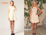 In Ashley Tisdale's Closet - ASOS Pintuck Detail Sleeveless Dress & Miu Miu  Bow Mary Jane Pumps