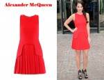 In Tulisa Contostavlos' Closet - Alexander McQueen Sleeveless Red Dress