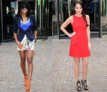 Kelly Rowland In Vivienne Westwood & Stella McCartney & Tulisa Contostavlos In Alexander McQueen - X Factor Liverpool Auditions