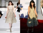 Zooey Deschanel In Oscar de la Renta - BAFTA Brits To Watch Event