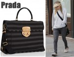 In Ashley Olsen's Closet - Prada Striped Tote
