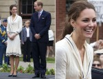 Catherine, Duchess of Cambridge In Alexander McQueen - Charlottetown Visit