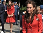 Catherine, Duchess of Cambridge In Catherine Walker - ENMAX Conservatory, Calgary Zoo
